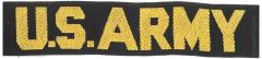 US ARMY tab, yellow-black, woven