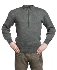 Swiss pullover, thick with zipper, surplus