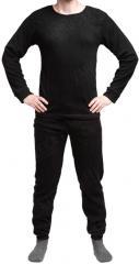 Mil-Tec mid layer set, fleece, round collar, black