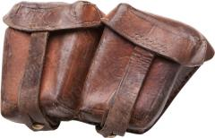Bulgarian M1895 cartridge pouch, leather, used
