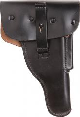 BW P1 pistol holster, black leather, surplus