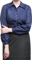 Ruotsalainen naisten kauluspaita, tummansininen, ylijäämä