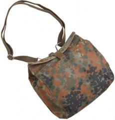 BW gas mask bag, with a strap, Flecktarn, surplus