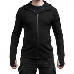 Särmä merino wool hoodie, black