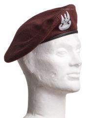 Polish beret, w/epic cockade, brown, surplus