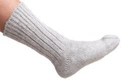 Helsingin villasukkatehdas woollen socks, grey