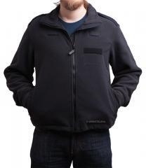 Brittiläinen poliisin fleece-takki, musta, ylijäämä