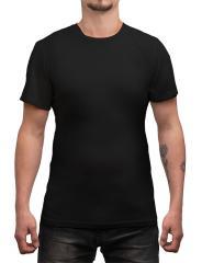 Särmä T-paita, merinovillaa, musta