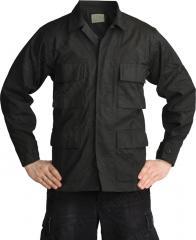 Teesar BDU jacket, ripstop, black