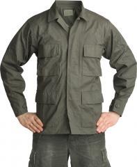 Teesar BDU jacket, ripstop, olive drab