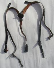 Wehrmacht Y-straps, leather, original