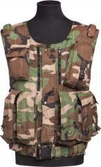 Russian rag vest, woodland, surplus