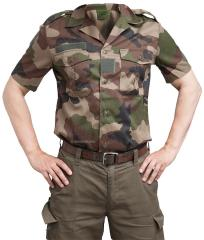 French F2 short sleeve shirt, CCE camo, surplus