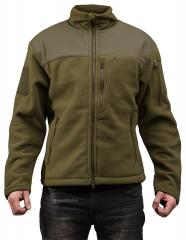 Särmä hoodless fleece jacket, olive green
