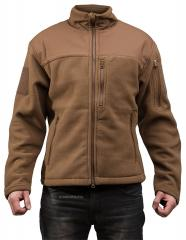 Särmä hoodless fleece jacket, coyote brown