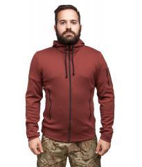 Särmä merino wool hoodie, Oxblood, preorder