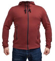Särmä merino wool hoodie, Oxblood