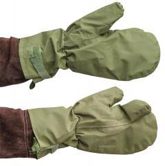 British shell mittens, MVP, green, surplus