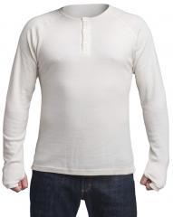 Särmä Classic Henley Shirt, merino wool, off-white