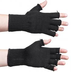 Särmä merino fingerless gloves, black