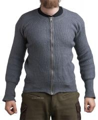 Danish sweater, with zipper, surplus