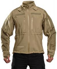 Mil-Tec Soft Shell takki, kojootinruskea