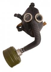 Soviet PDF-2sh gas mask, black, surplus