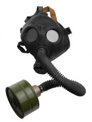 Soviet PDF-2D gas mask, black, surplus