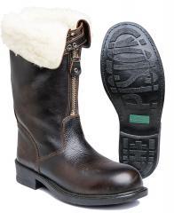 Italian winter boots with felt lining, surplus