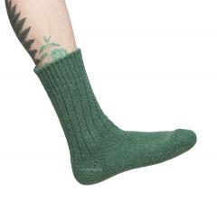 Helsingin villasukkatehdas woollen socks, green
