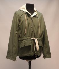 Wehrmacht reversible winter jacket, green/white, repro, used, Medium