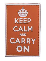 Keep Calm and Carry On PVC-moraalimerkki