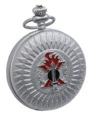 Italin wartime pocket watch, silver colour, repro