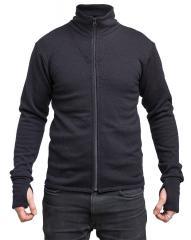Särmä merino wool terry jacket, black
