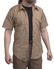 USMC lyhythihainen kauluspaita, vaaleanruskea, ylijäämä