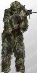Mil-Tec Ghillie-naamiopuku, metsä