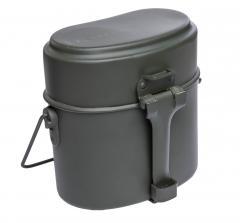 BW mallin pakki, kolmiosainen, alumiinia, vihreä