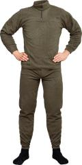 Mil-Tec mid layer set, fleece, zipper collar
