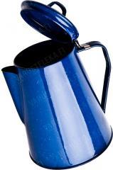 Mil-Tec coffee pot, blue, enameled steel