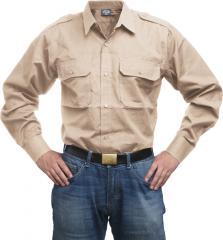 Mil-Tec pitkähihainen kauluspaita, khaki