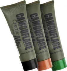 Kemex M/97 face paint set, black, brown and green