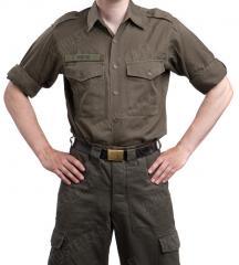 Austrian service shirt, olive drab, surplus