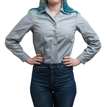 Ruotsalainen naisten kauluspaita, vaaleansininen, ylijäämä