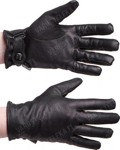 BW-mallin nahkahanskat, vuoritetut, mustat