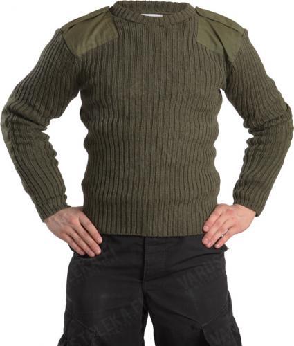 Brittiläinen villapaita, vihreä, ylijäämä
