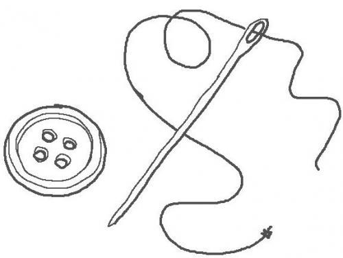 Ompelutyö, velcropohja vaatteeseen tai varusteeseen