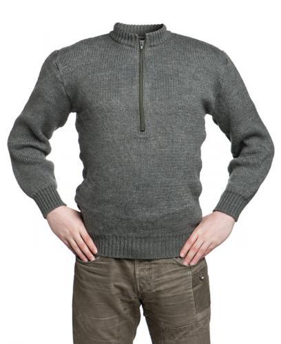 Sveitsiläinen villapaita, paksu, vetoketjulla, ylijäämä