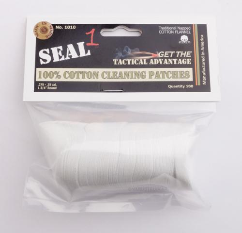SEAL 1 100% Cotton Cleaning Patches, 100 kpl pussi