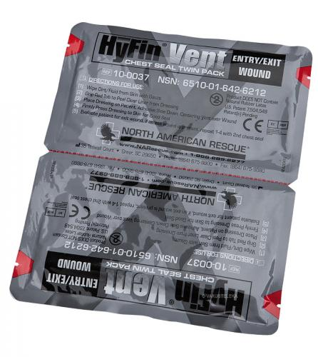 NAR HyFin Vent Chest Seal Twin Pack ilmarintasidos
