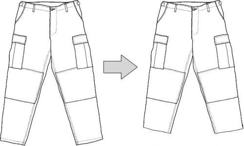 Ompelutyö, housujen lahkeen lyhennys